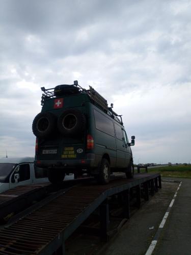 Abschmieren der Kardanwelle (Russland)